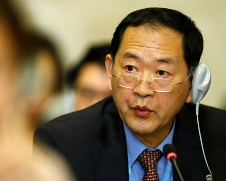 北韓大使韓泰松。