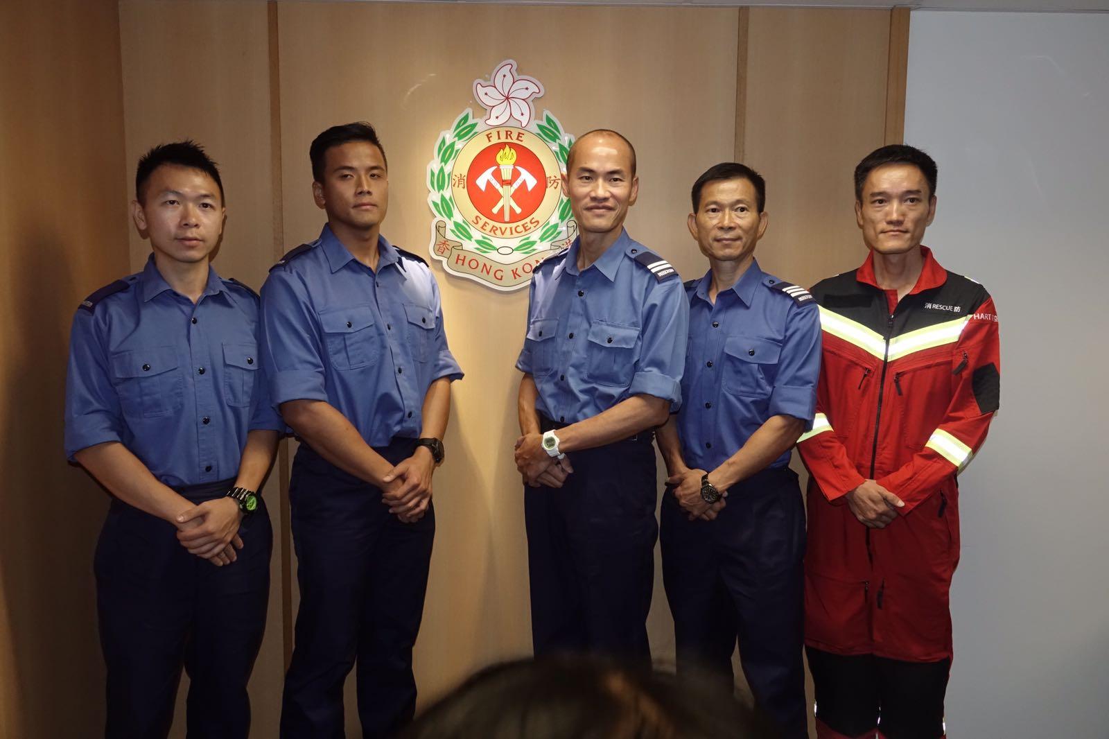 有份參與拯救的消防員講述當日的救人經過。