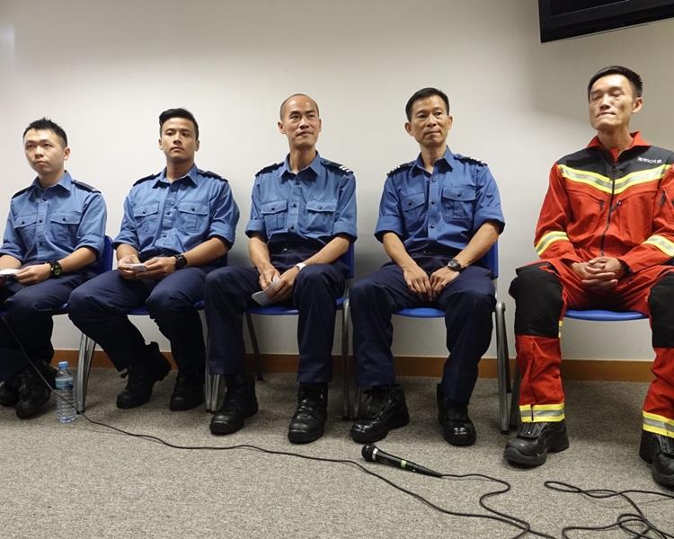 (左起)李栢強、蘇嘉祥 、蘇志榮、黃瑞其 及李巍。