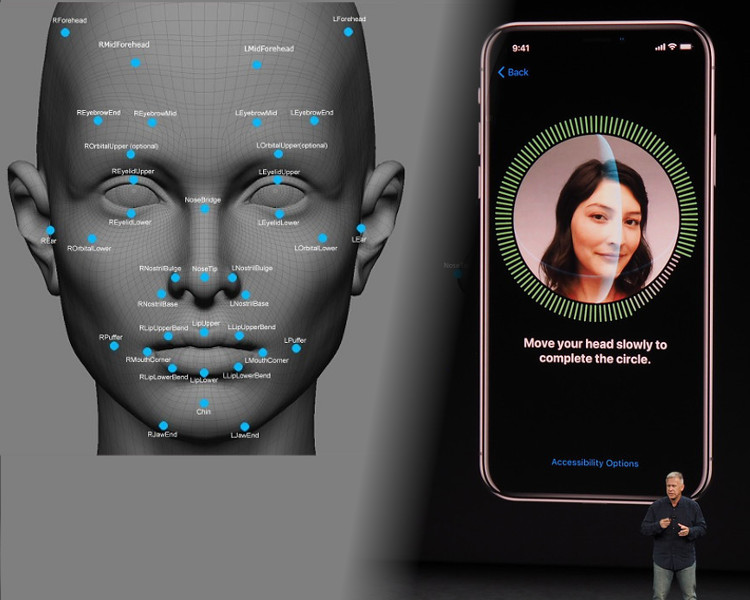 Face ID比Touch ID安全性高,但被質疑有漏洞。網圖