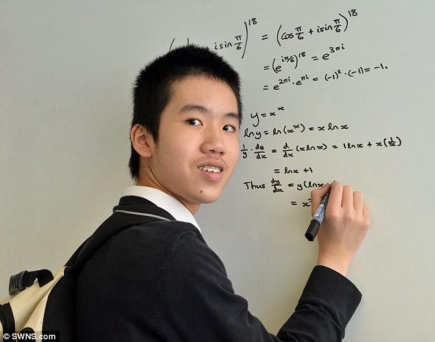 羅宏博以13歲之齡攻讀碩士。網上圖片