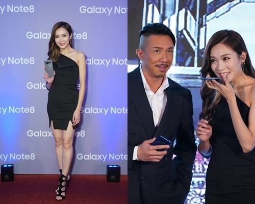 李佳芯和張繼聰在手機發佈會上有話劇演出。
