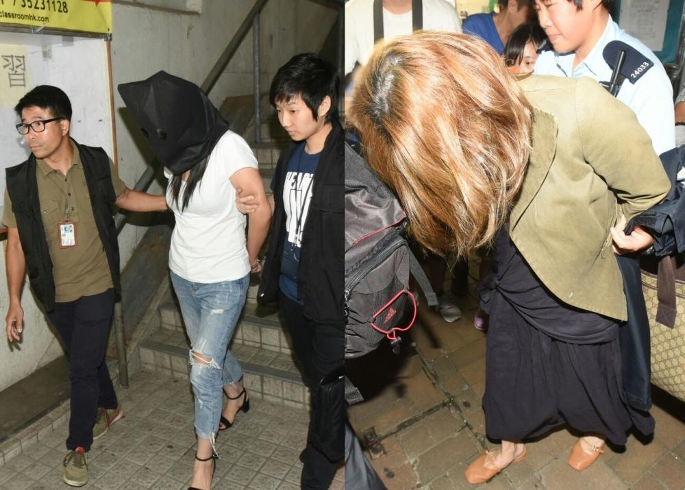 被捕的美容師及女東主。資料圖片