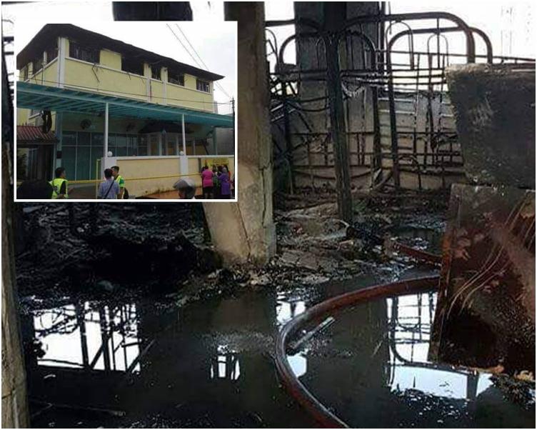 校內嚴重焚毀。網圖