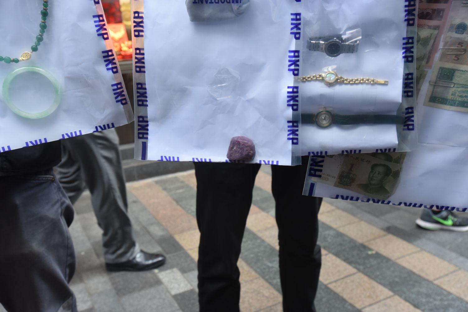 警方搜出懷疑涉案贓物。
