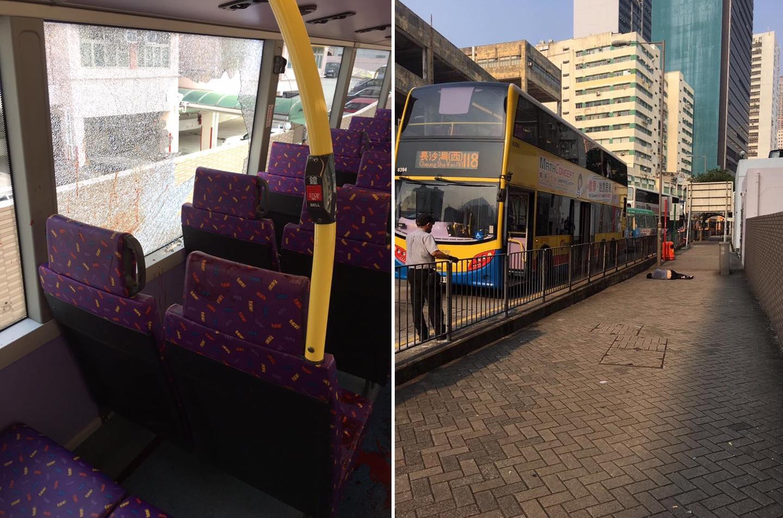 城巴发言人表示,涉事为118号路线巴士,於下午3时58分由小西湾蓝湾半岛