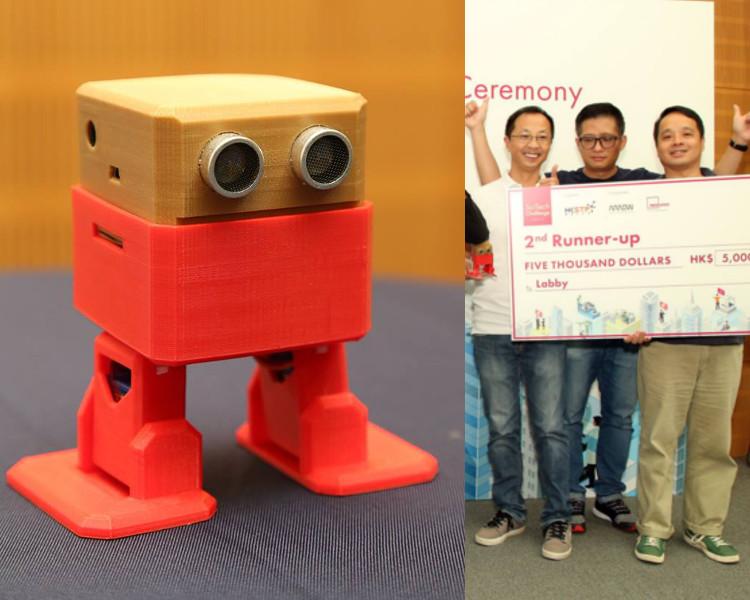 季軍則由Labby的「SAM模型玩具教育機械人」奪得。