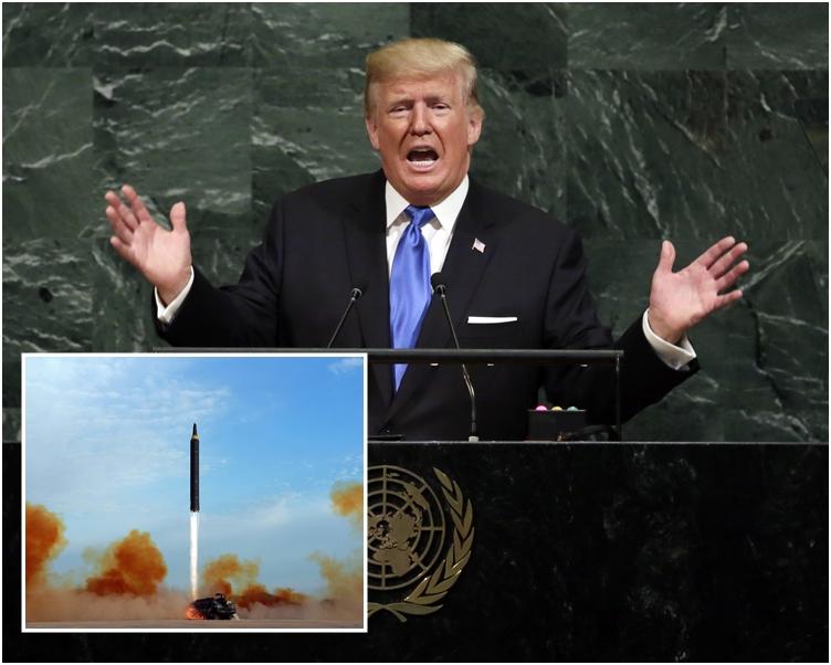 特朗普揚言會「徹底摧毀」北韓。AP