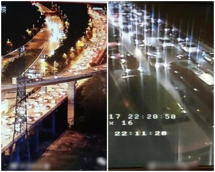 廣深高速部分路段昨起已大排長龍。網上圖片