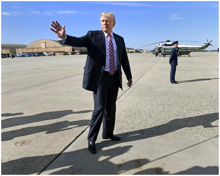 美國總統特朗普再爆惹火言論。AP圖片