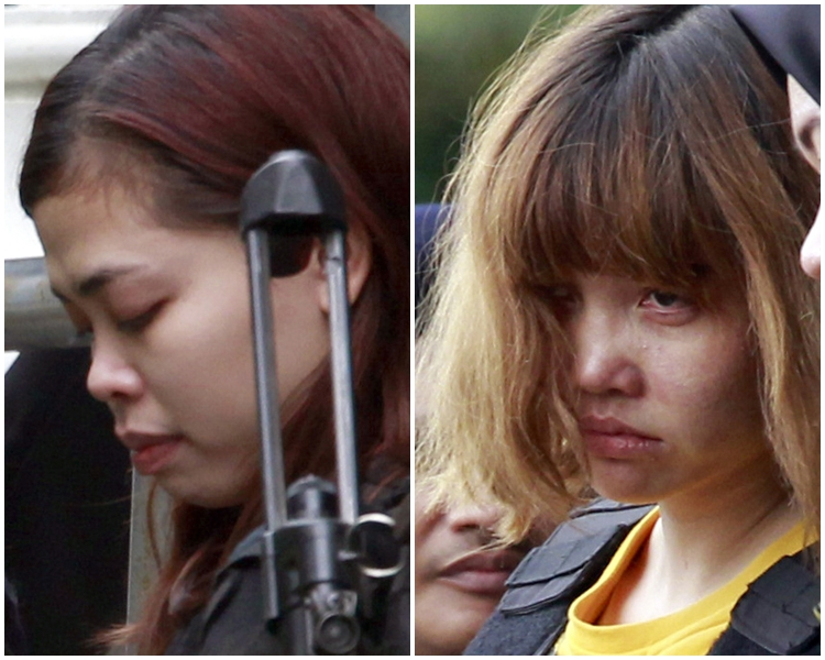 段氏香(右)和艾莎出庭。AP圖片