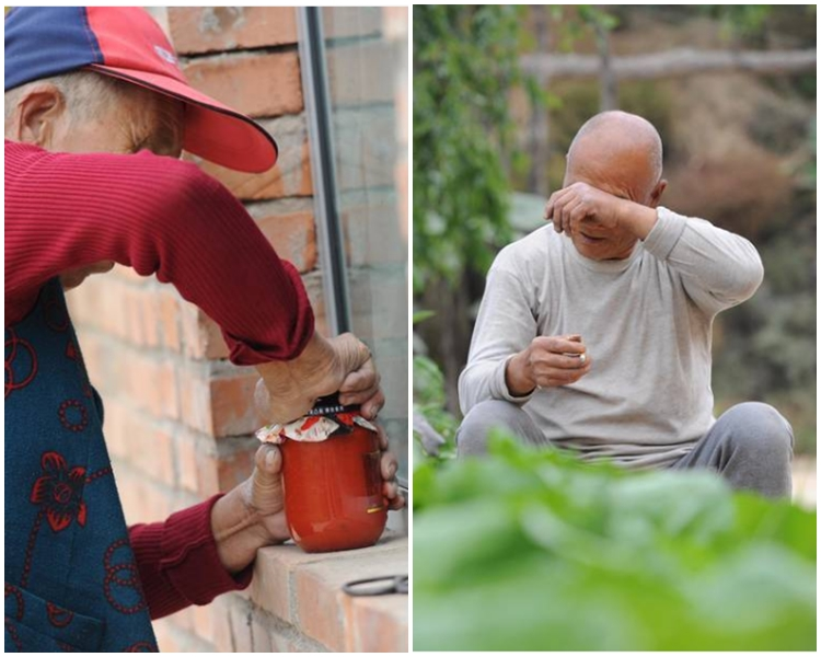 老夫婦為子女準備最愛辣椒醬,可是無人回鄉。網上圖片