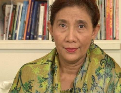 印尼海洋漁業部長蘇西(Susi Pudjiastuti)。網上圖片