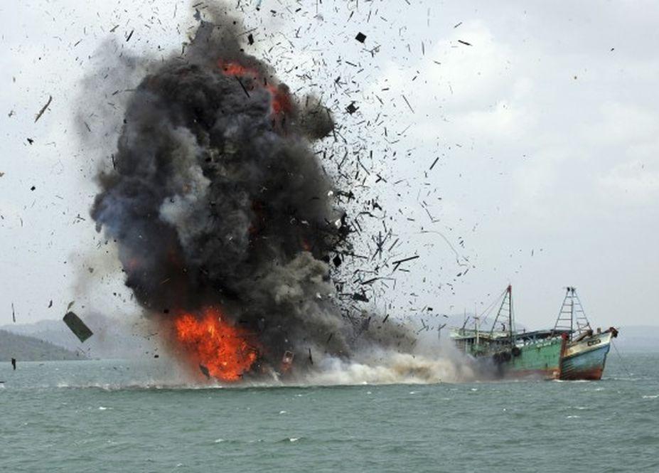 蘇西下令炸逾百非法入侵漁船,當中包括中國漁船。