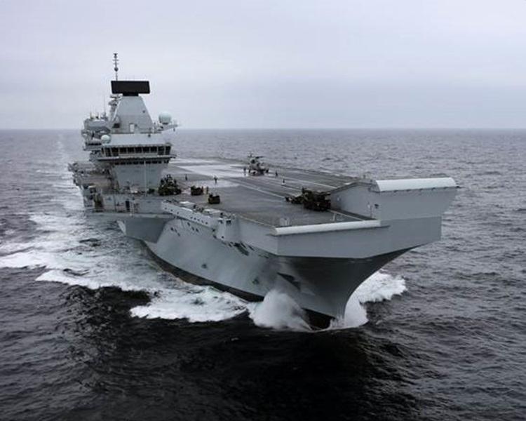 航空母艦「伊利沙伯女皇號」。圖: U.K. Royal Navy