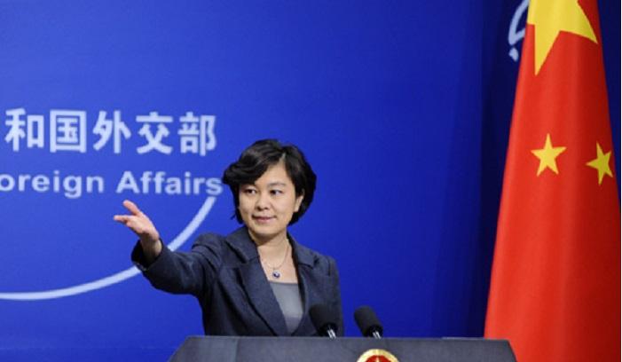 中國外交部發言人華春瑩,呼籲各方就北韓問題,保持冷靜克制(網上圖片)