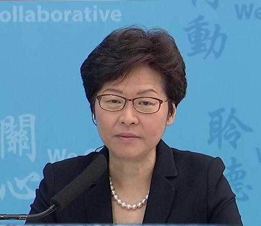 林鄭月娥表示300元交通津貼已取得平衡。