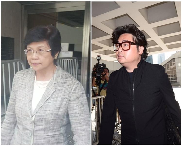 何周禮(右)及劉吳惠蘭出庭作供。
