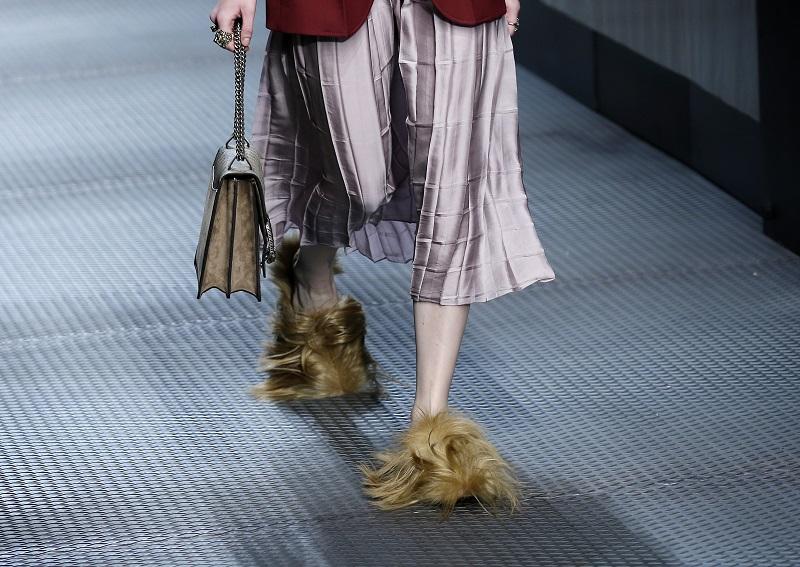 Gucci宣布,明年開始將不再使用皮草。AP資料圖片