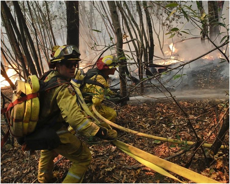 特大山火仍未受控。AP