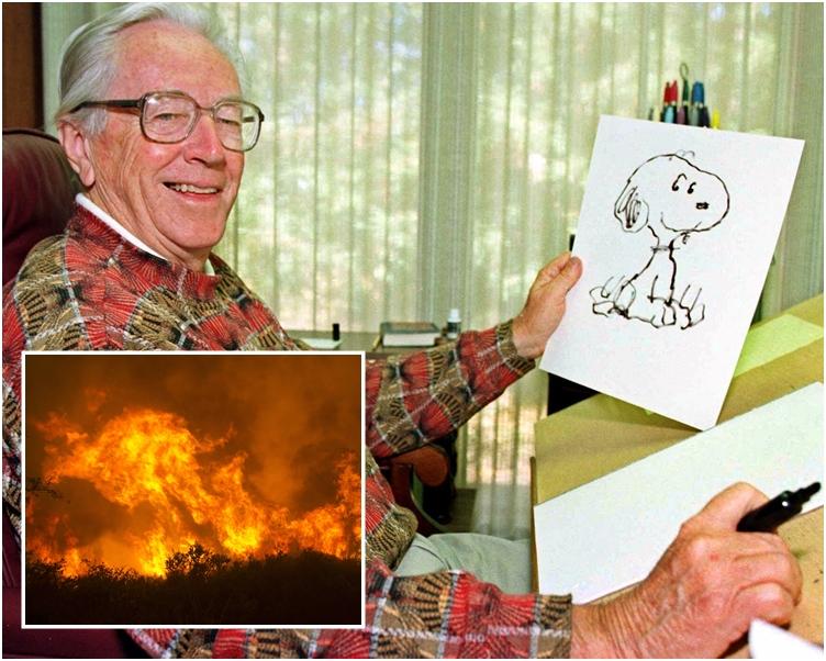 《花生漫畫》已故創辦人舒爾茨的故居被焚毀。AP