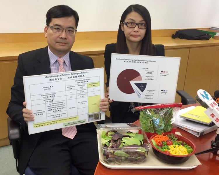 左起:署理首席醫生(風險評估及傳達)周楚耀、研究主任方朗茵