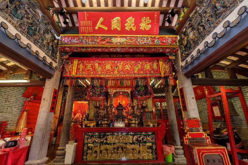 楊侯古廟建於1699年或以前。政府新聞處