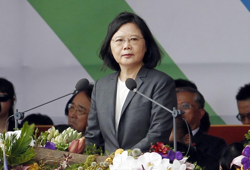 台灣蔡英文總統。AP圖片