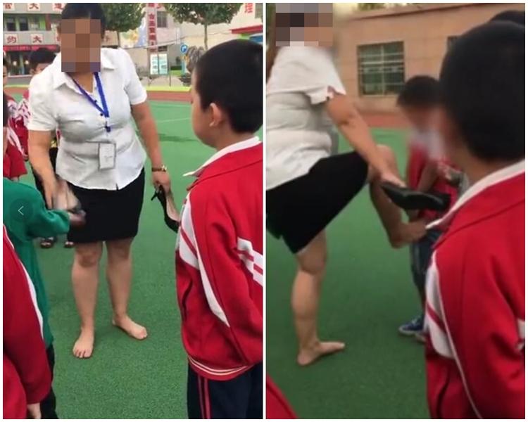 河南新密市一間小學爆出老師打學生醜聞。網上圖片