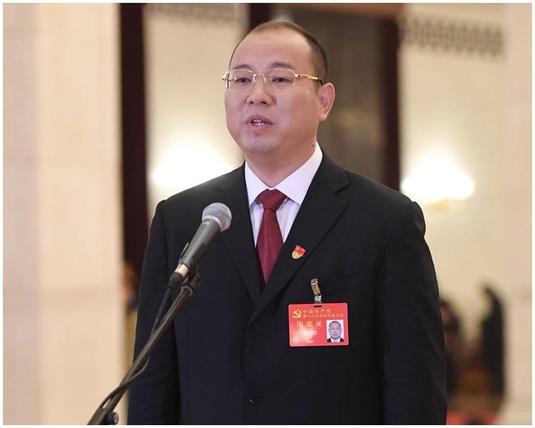 蘭考縣委書記蔡松濤。新華社圖片