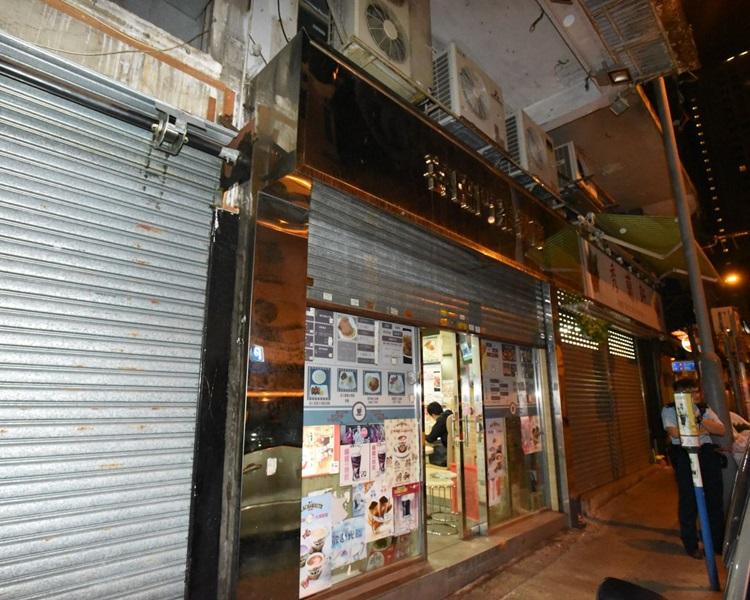 現場是廟街276號地下一間茶餐廳。丁志雄攝