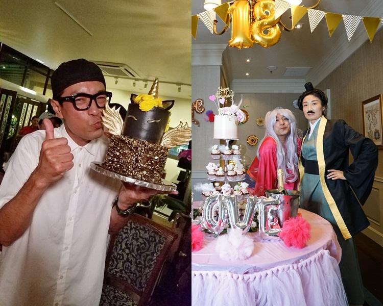 黑仔慶生又同老婆反串玩Cosplay慶祝結婚18周年。