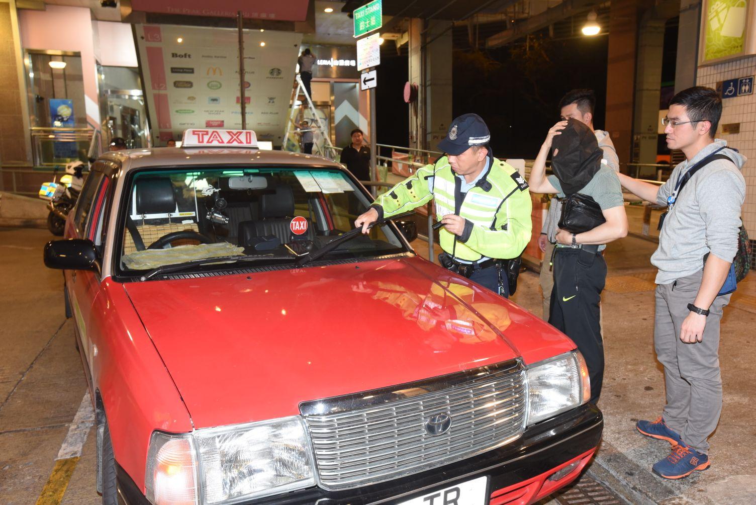 警方拘捕一名的士司機