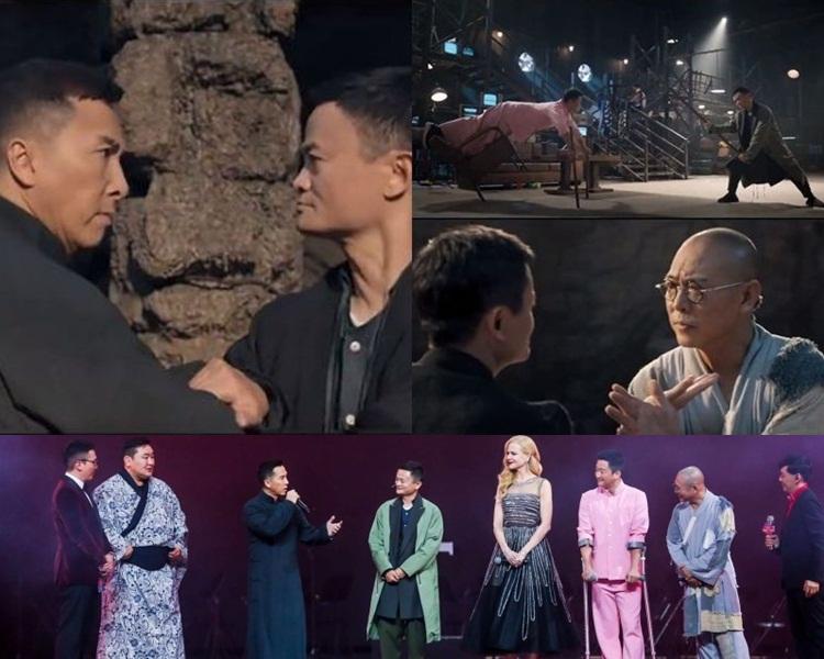 馬雲打遍天下無敵手,昨晚活動甄子丹、吳京、李連杰都以戲中造型出現,還有妮歌潔曼。