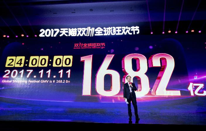 雙11總成交額為1,682億元人民幣(約1,975億港元),再刷新紀錄。