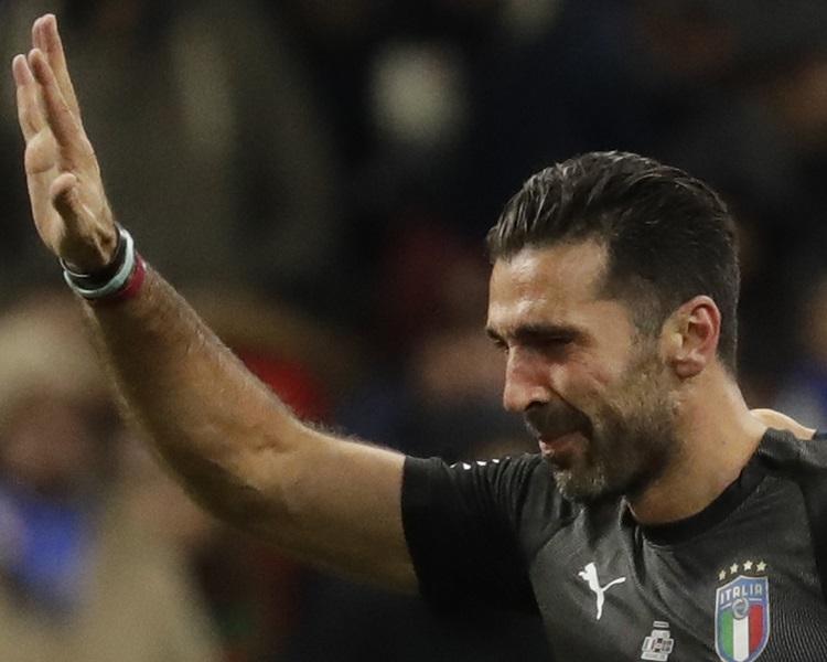 意大利60年來首缺席決賽周,保方含淚告別。AP