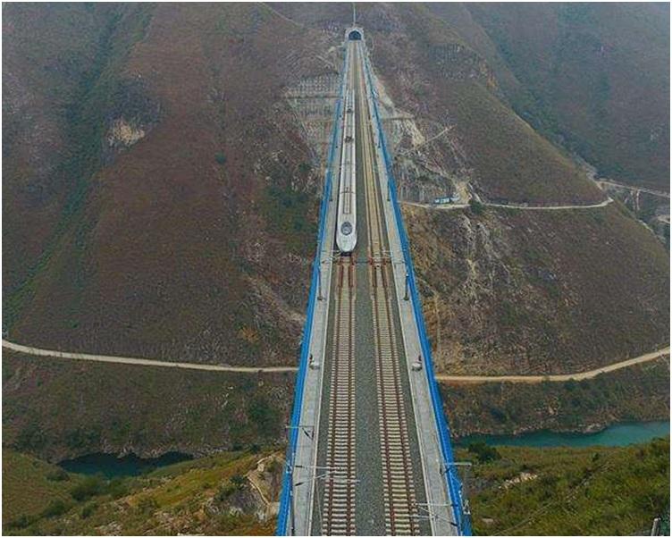 高鐵貴州段出現嚴重造假問題。新華社