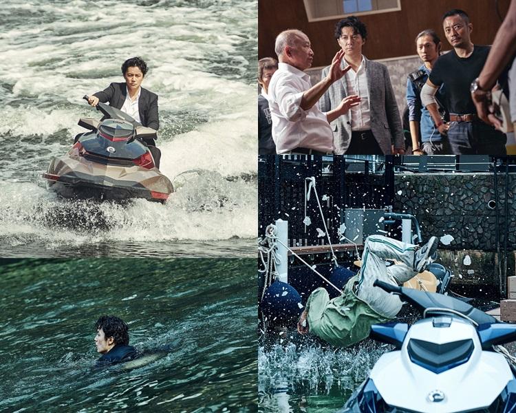 福山雅治、張涵予拍戲時都被水上電單車考起。