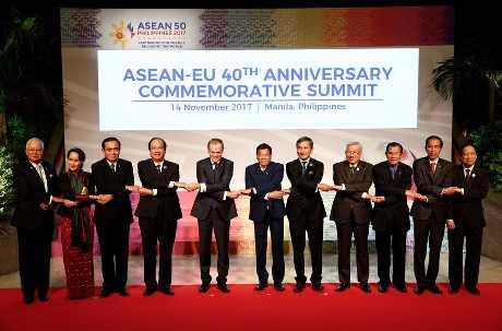 歐盟與東協昨舉行峰會。