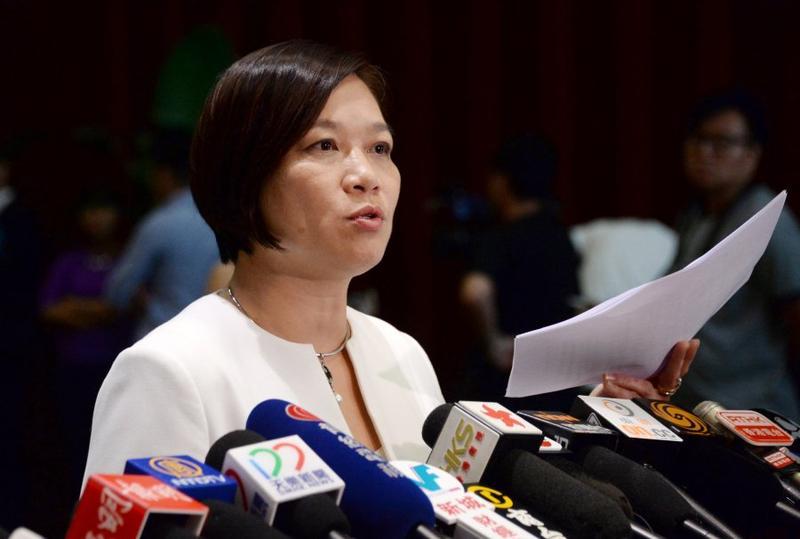 梁美芬表示派發香港獨立傳單有機會觸犯刑事條例。資料圖片