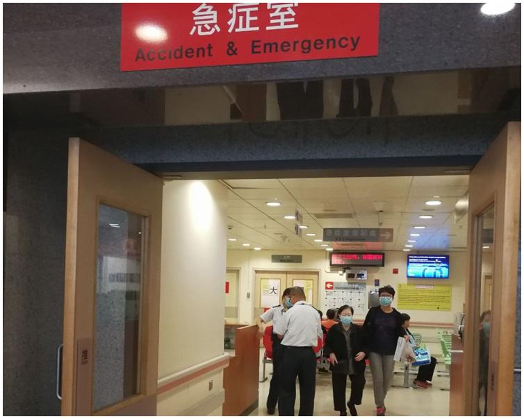 女子緊急送往明愛醫院搶救。梁國峰攝