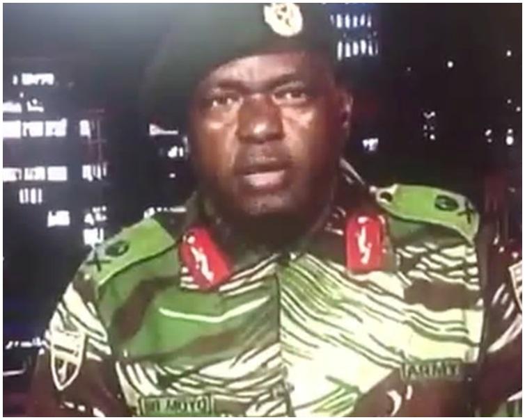 軍方在接管國家電視台總部後宣讀了一份聲明。