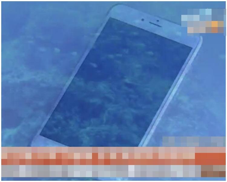 直沉海底的手機竟失而復得,讓袁女十分感動。網圖