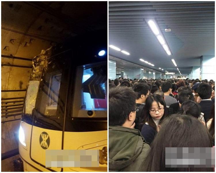 列車嚴重受損,相關地鐵設備不同程度損傷,導致行車被迫中斷。網圖