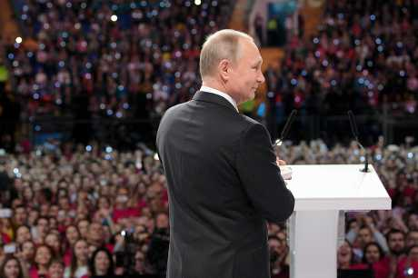 俄羅斯總統普京。AP