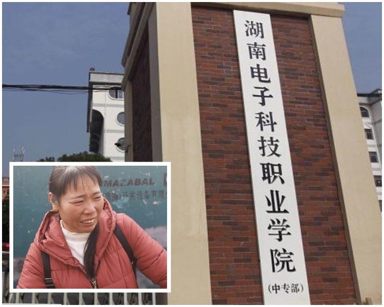 死者母親(小圖)說起自己兒子姚某無辜被毆斃就十分悲痛。