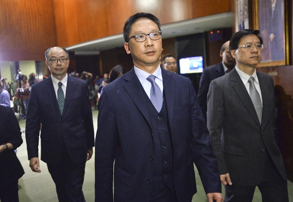 袁國強將預期在本月底離任。資料圖片