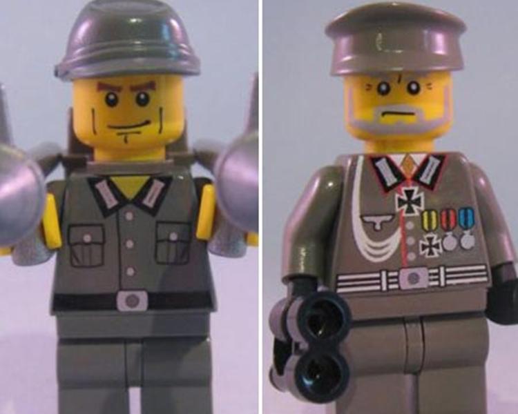 身著納粹軍裝的疑似樂高玩偶。網上圖片