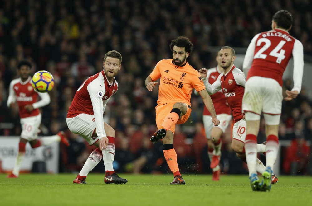 阿仙奴落後兩球下雖一度反先,最終被利物浦逼和3:3。AP