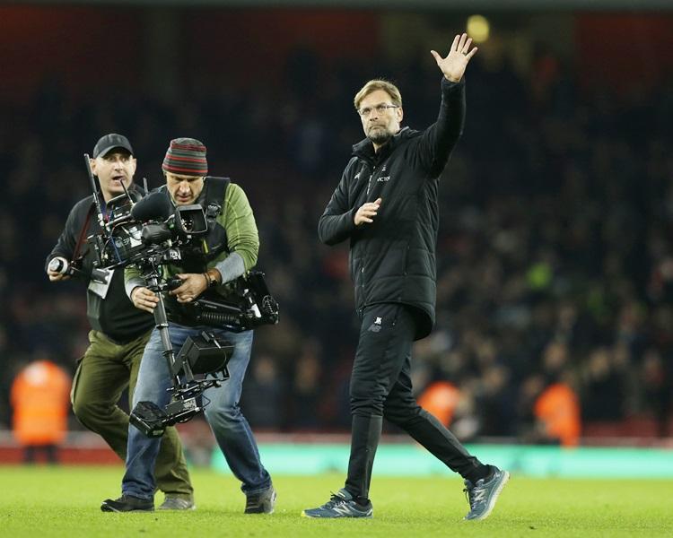 利物浦領隊高普(右)間接承認爭標無望。AP